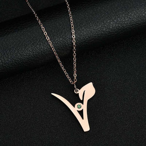 Vegan, Vegetarian Symbol Necklace