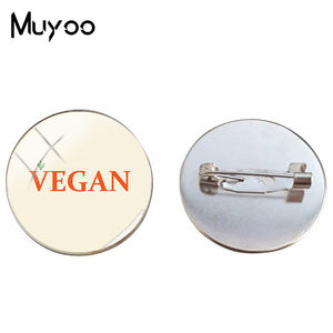Vegan GLASS Pin
