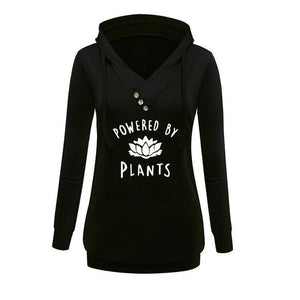 Vegan Powered By Plants Hooded Sweatshirt
