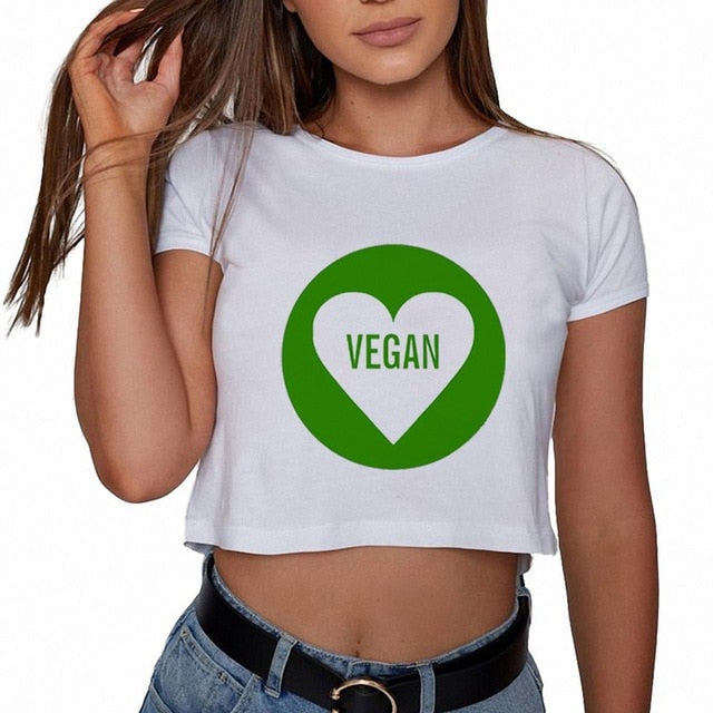 Vegan Crop Top Women