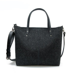 Large Vegan Shoulder Bag Minimalist Purse