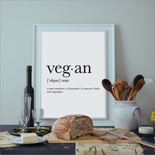 Vegan Definition Canvas Art Print Poster
