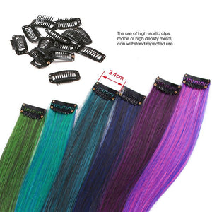 "Pure Color Straight Ombre Extensions 20"" - 12 Color Set"