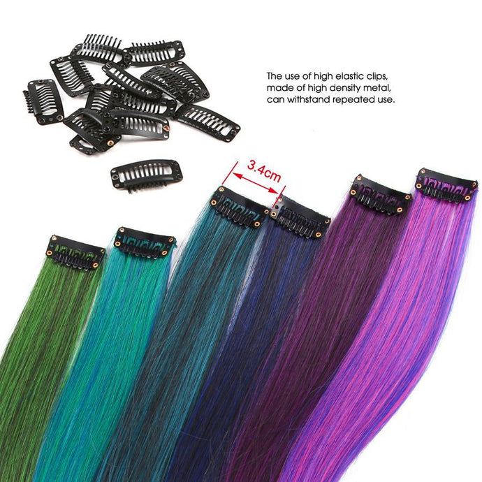 Pure Color Straight Ombre Extensions 20