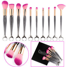 Chrome Mermaid Brushes Set - 10 pc