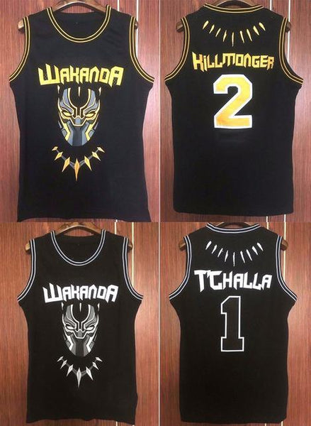 Black Panther T Challa Killmonger Basketball Jersey e2a90981e
