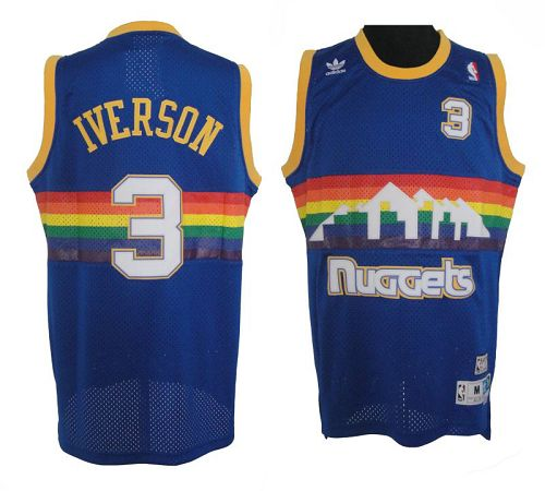 Allen Iverson Denver Throwback Jersey caf16da1d