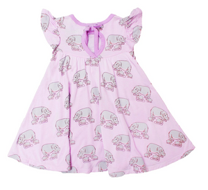 Free Birdees Twirling Dress - Pale Orchid Hippos