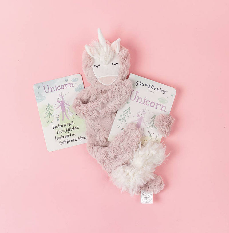 Slumberkins Rose Unicorn Snuggler - Authenticity and Friendship
