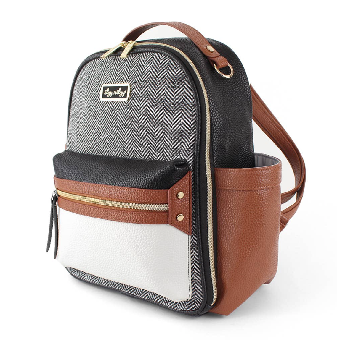 Itzy Mini™ Diaper Bag Backpack - Coffee and Cream