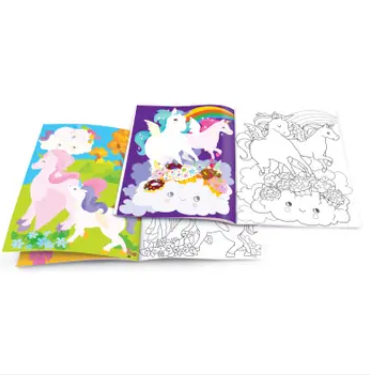 Piggy Story Dry Erase Coloring Book - Unicorn Land