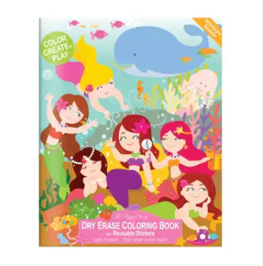 Piggy Story Dry Erase Coloring Book - Magical Mermaids