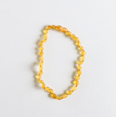 CanyonLeaf Raw Honey: Classic Amber Necklace 12""