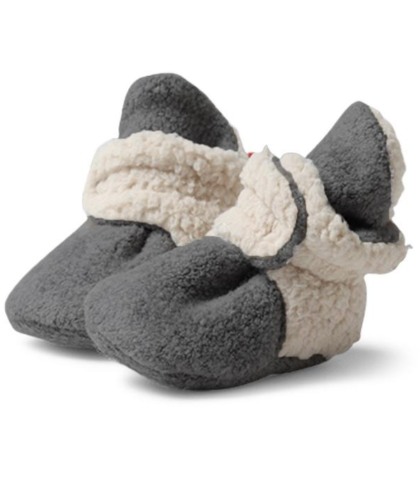 Zutano Cozie Fleece Furry Lined Bootie - Gray
