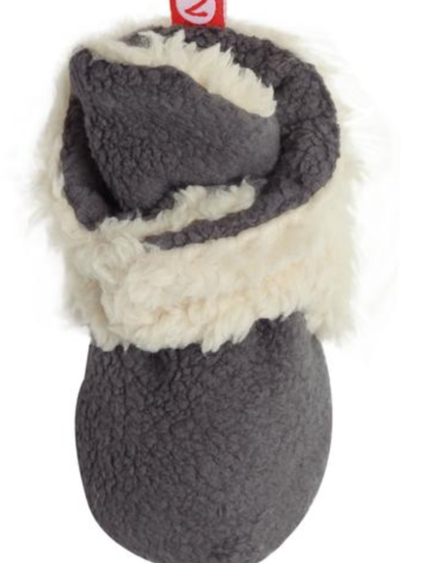 Zutano Cozie Fleece Furry Lined Bootie w/Grippers - Gray