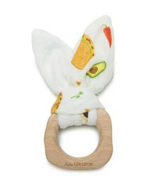 Lou Lou Lollipop Bunny Ear Teether - Tacos