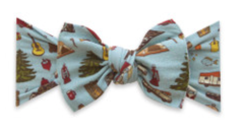 Baby Bling Printed Knot - Goin' Campin'