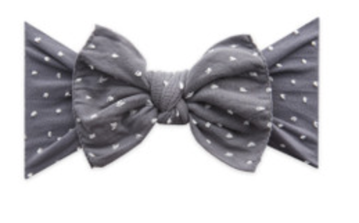 Baby Bling Patterned Shabby Knot - Storm Dot