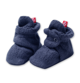 Zutano Cozie Fleece Bootie - Denim Navy