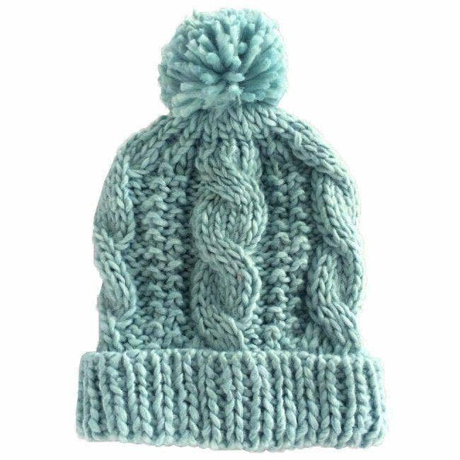 Huggalugs Seaglass Cable Beanie