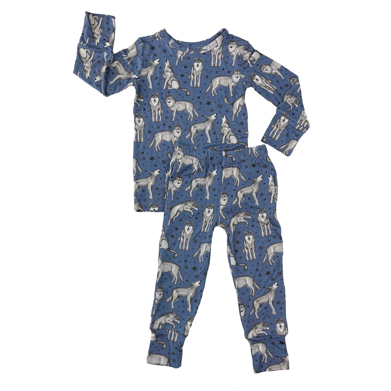 Muse Threads Night Wolves PJ Set