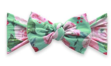 Baby Bling Printed Knot - Watercolor Mint