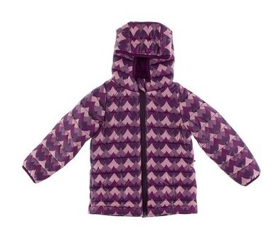 KicKee Pants Print Puffer Jacket in Melody Waves with Melody