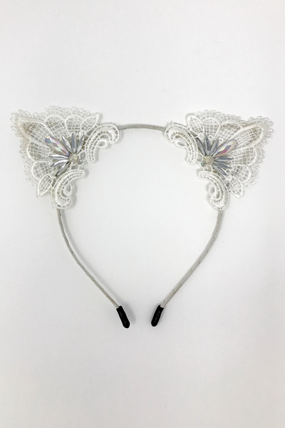White AB Cat Ears