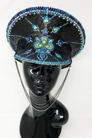 Peacock Paradise Captain Hat