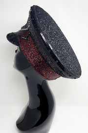 Black Red Signature Captain Hat