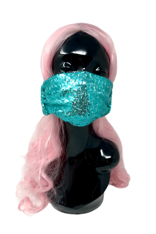Adult Multi-use Sequin Headband Mask