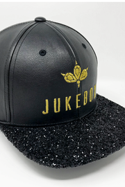 Jukebox Signature Black Glitter Snapback