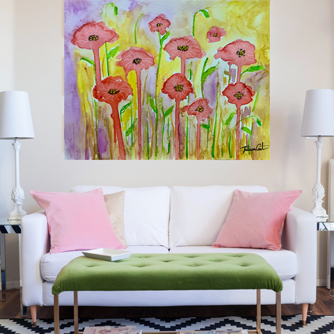 Poppy Field. Lux Limited Edition. 36x48 inches