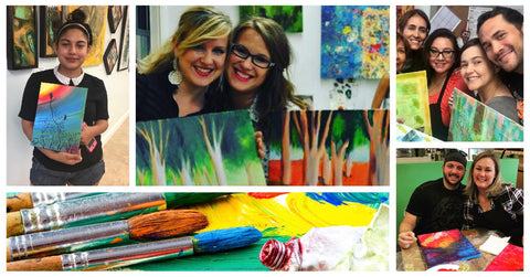 Painting Classes with Tatiana Cast