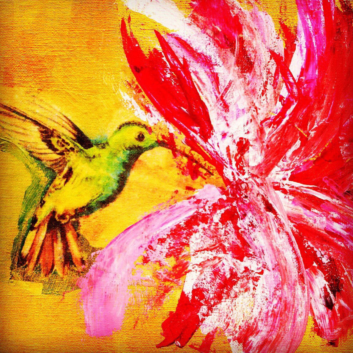 Hummingbird and Hibiscus 1