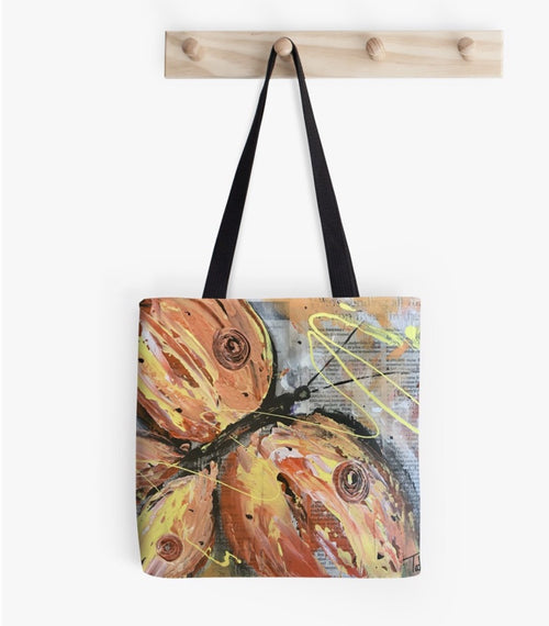 Orange Butterfly Tote Bag - TatianaCast
