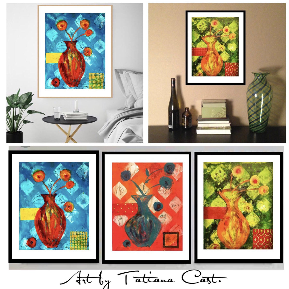 Yellow and Orange Blossoms Set -Prints - TatianaCast