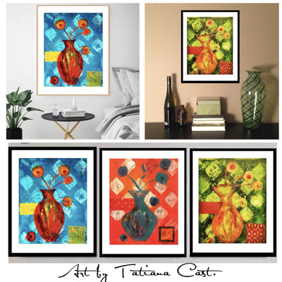 Yellow and Orange Blossoms Set -Prints
