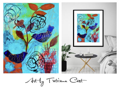 Blue Birds - Prints - TatianaCast