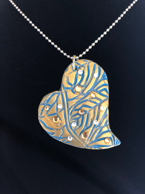 Wearable Art - Large Heart Pendant -Love2 - TatianaCast