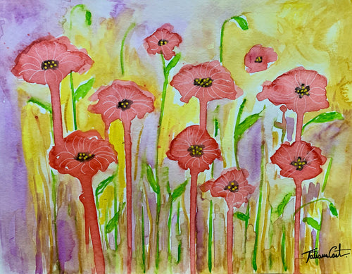 Whimsical Poppy Field -Prints - TatianaCast