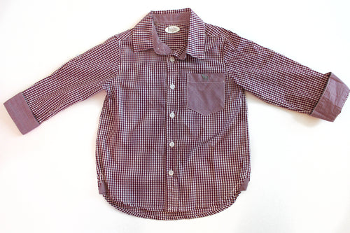 Purple Gingham Shirt