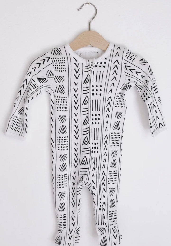 Tribal Print Zip Footie