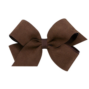 Faux Suede Bow