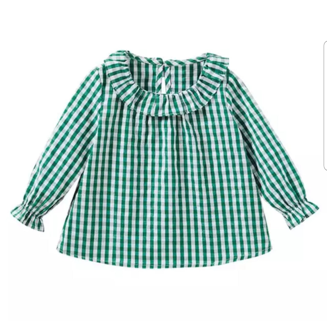 Gracie Gingham Top