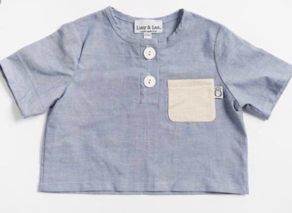 Henley Chambray Shirt