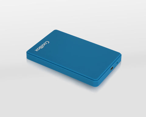 CoolBox SlimColor 2543 2.5 Zoll HDD / SSD-Gehäuse Blau