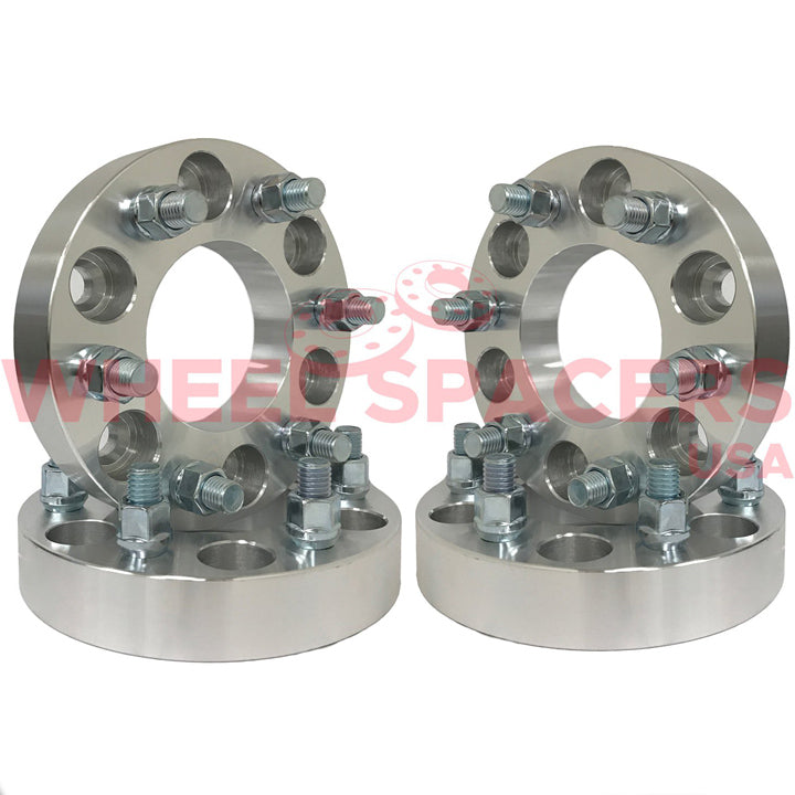 4) 6x5.5 Wheel Spacers For Chevy & GMC 6 Lug Trucks Also Known as 6x139.7 14x1.5 Threads Fits Most 6 Lug Chevy & GMC 78.1mm Hubcentric Bore