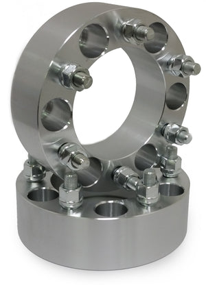 2) 6x5.5 Wheel Spacers For Chevy & GMC 6 Lug Trucks Also Known as 6x139.7 14x1.5 Threads Fits Most 6 Lug Chevy & GMC 78.1mm Hubcentric Bore