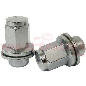 "24 Toyota Tall OEM Style Lug Nuts With Washer 14x1.5 | Fits All Toyota OEM Rims 1.81"" Tall"